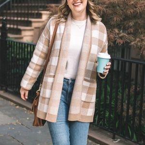 Madewell Minetta Sweater Coat in Buffalo Check